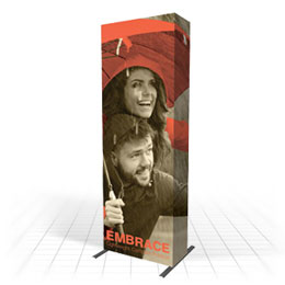 Linkable & seamless - fabric pop-up stand
