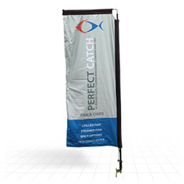 Rectangular flag shape available 2.1m - 5.1m high