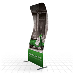 Curved Fabric Banner Stand