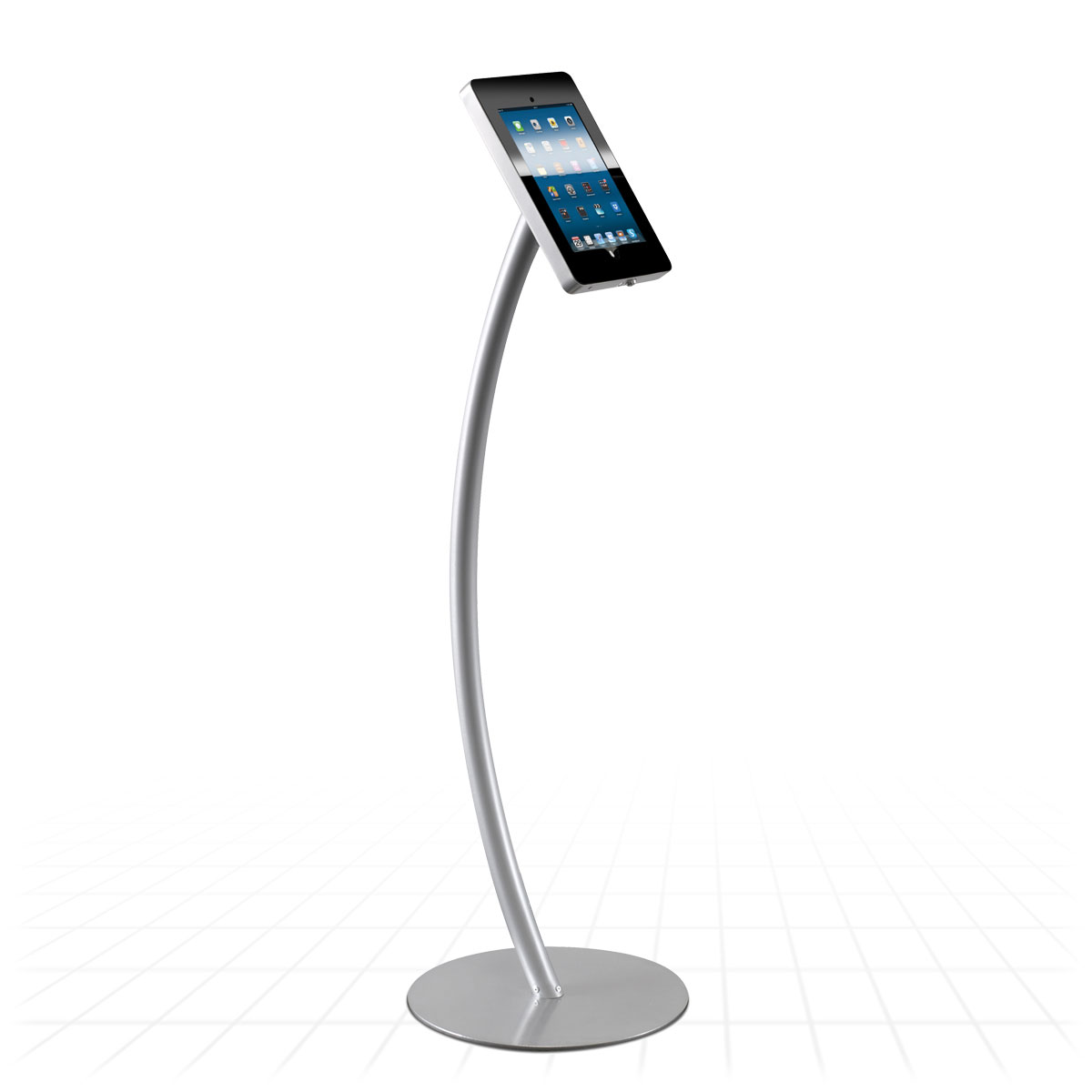 Zeus Exhibition Stand : Curve ipad display stand tablet stands