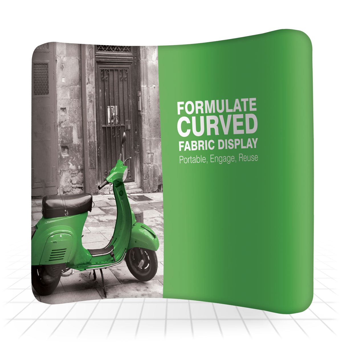 Fabric Exhibition Stand Quotes : Formulate curved walls