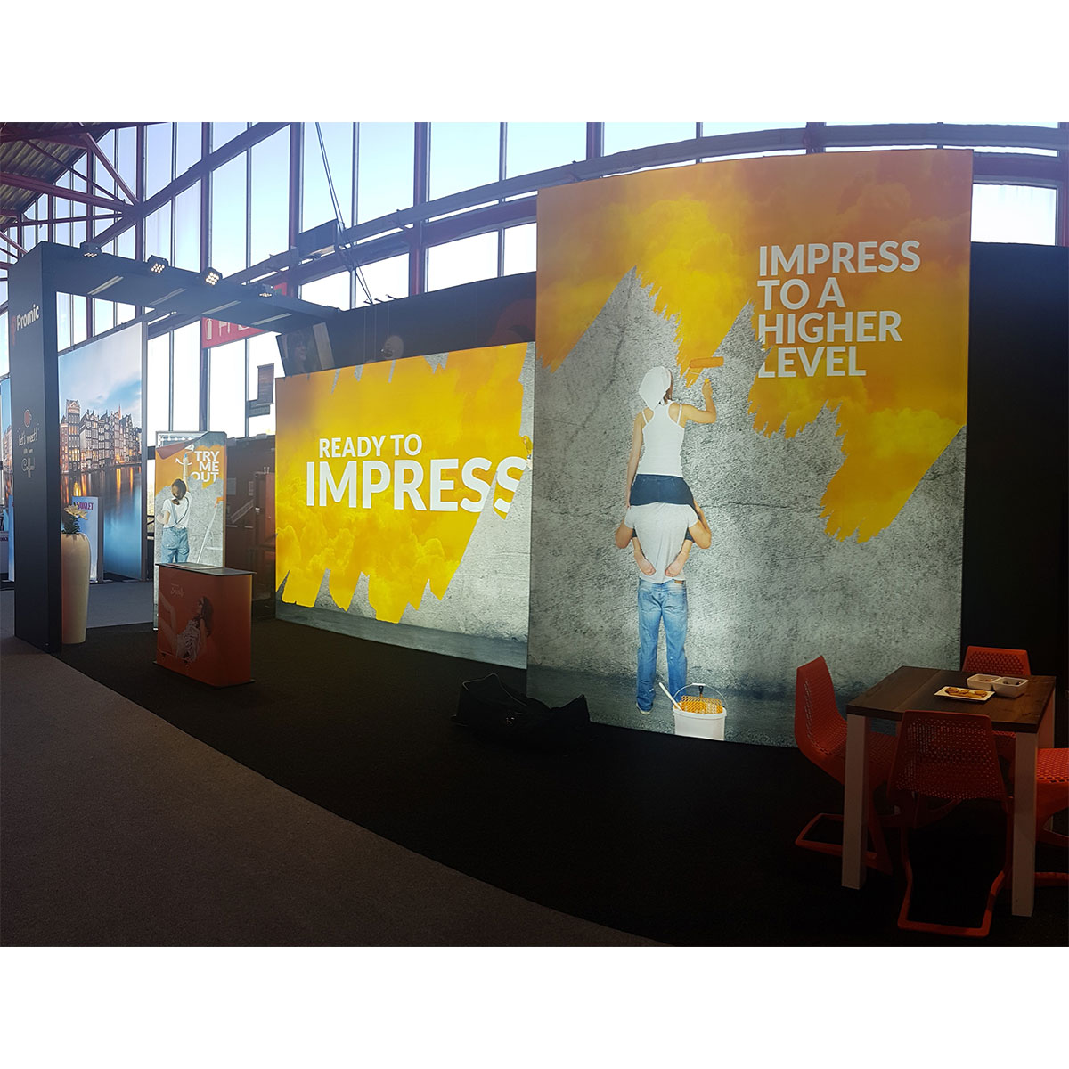 Fabric Exhibition Stand Quotes : Impress fabric display stand