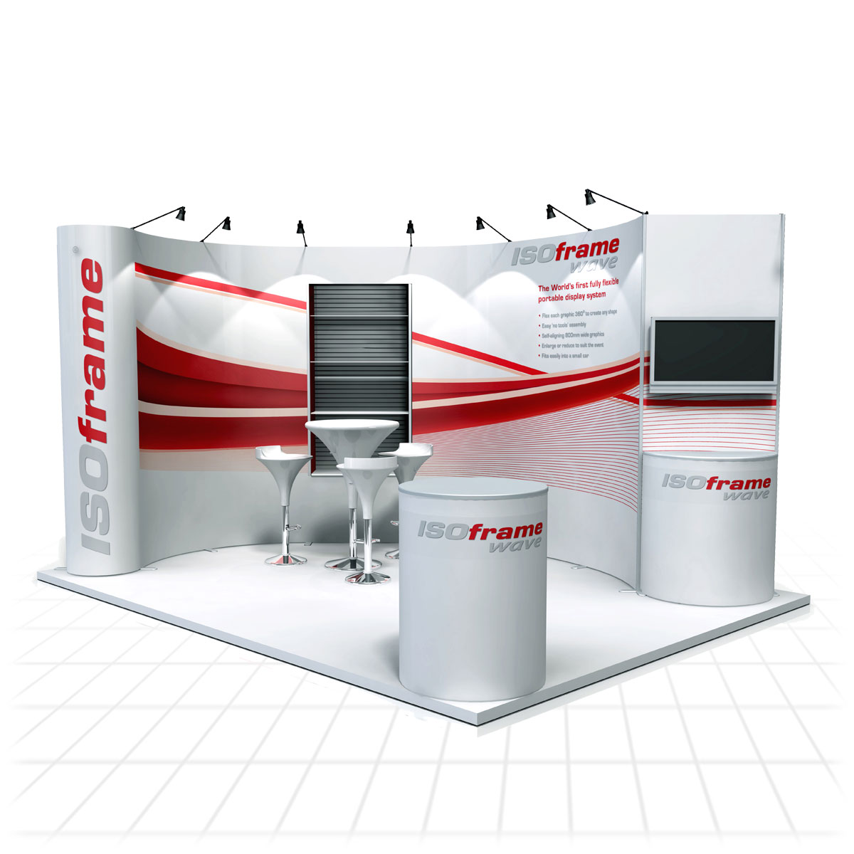 Zeus Exhibition Stand : Isoframe wave self build