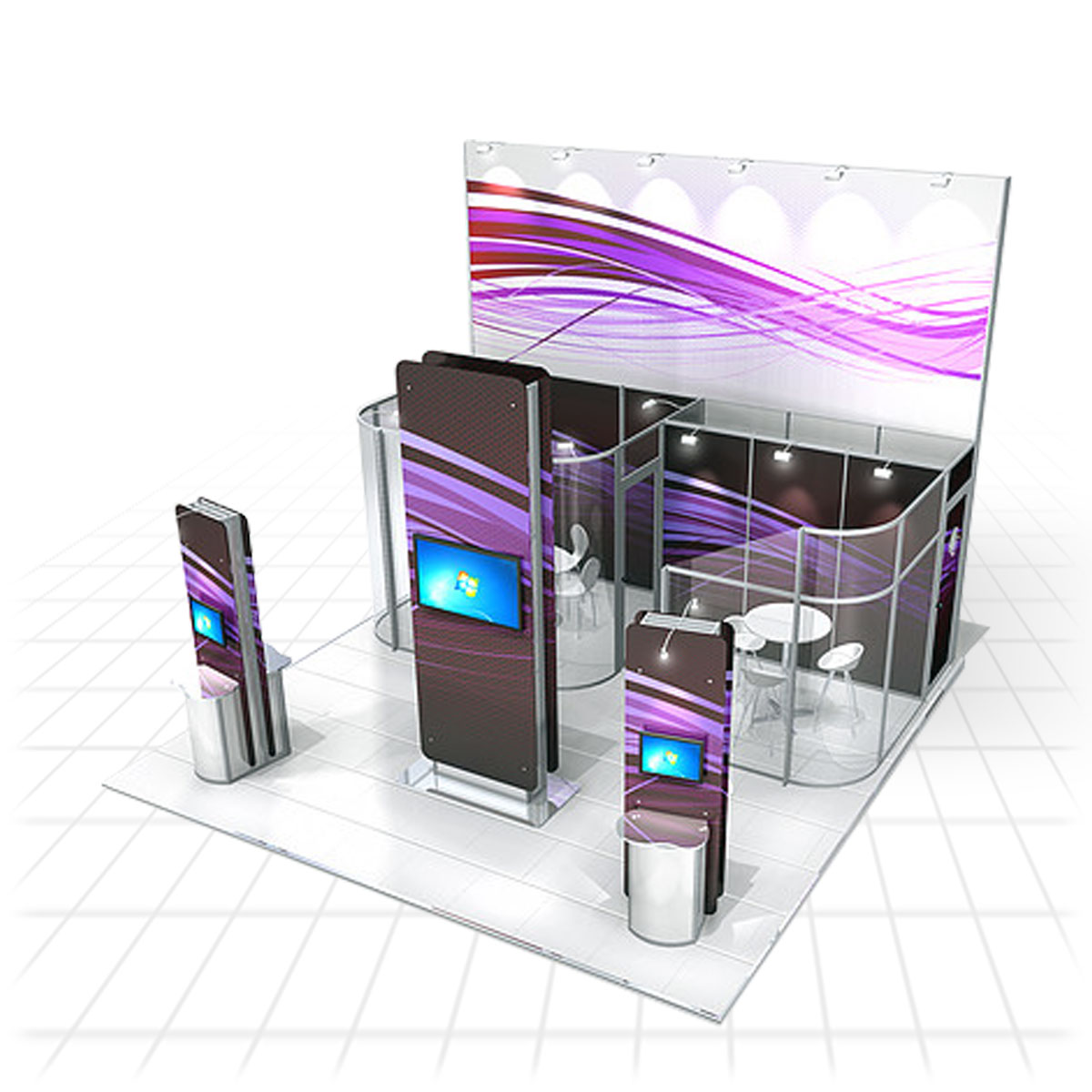 Zeus Exhibition Stand : Modular exhibition stands pro build