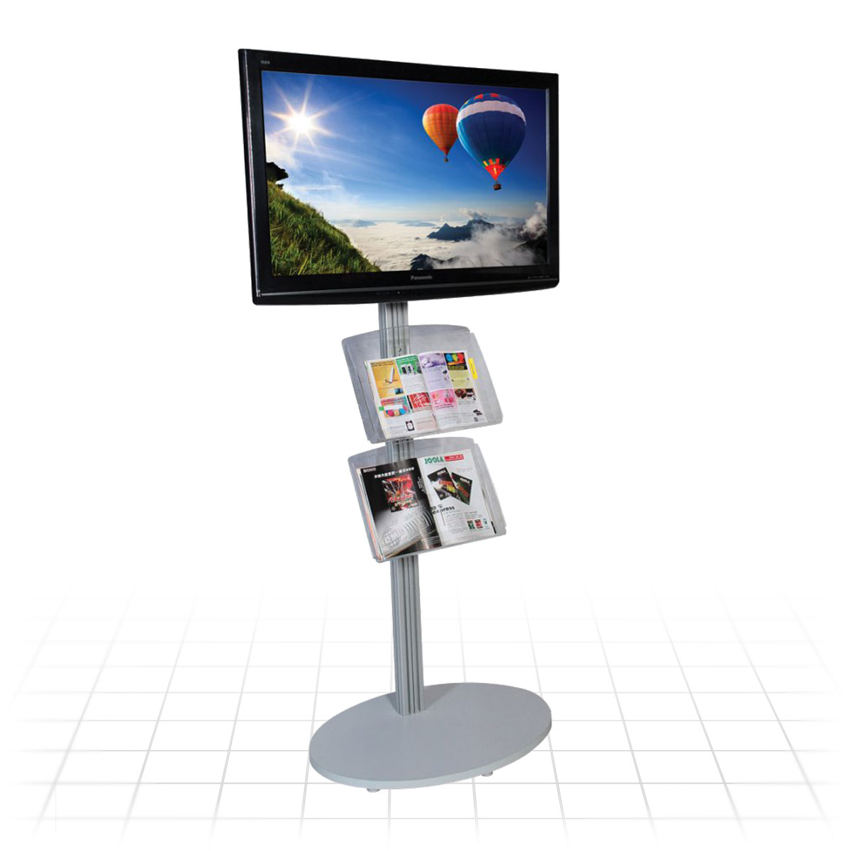 Zeus Exhibition Stand : Screen holder point of sale