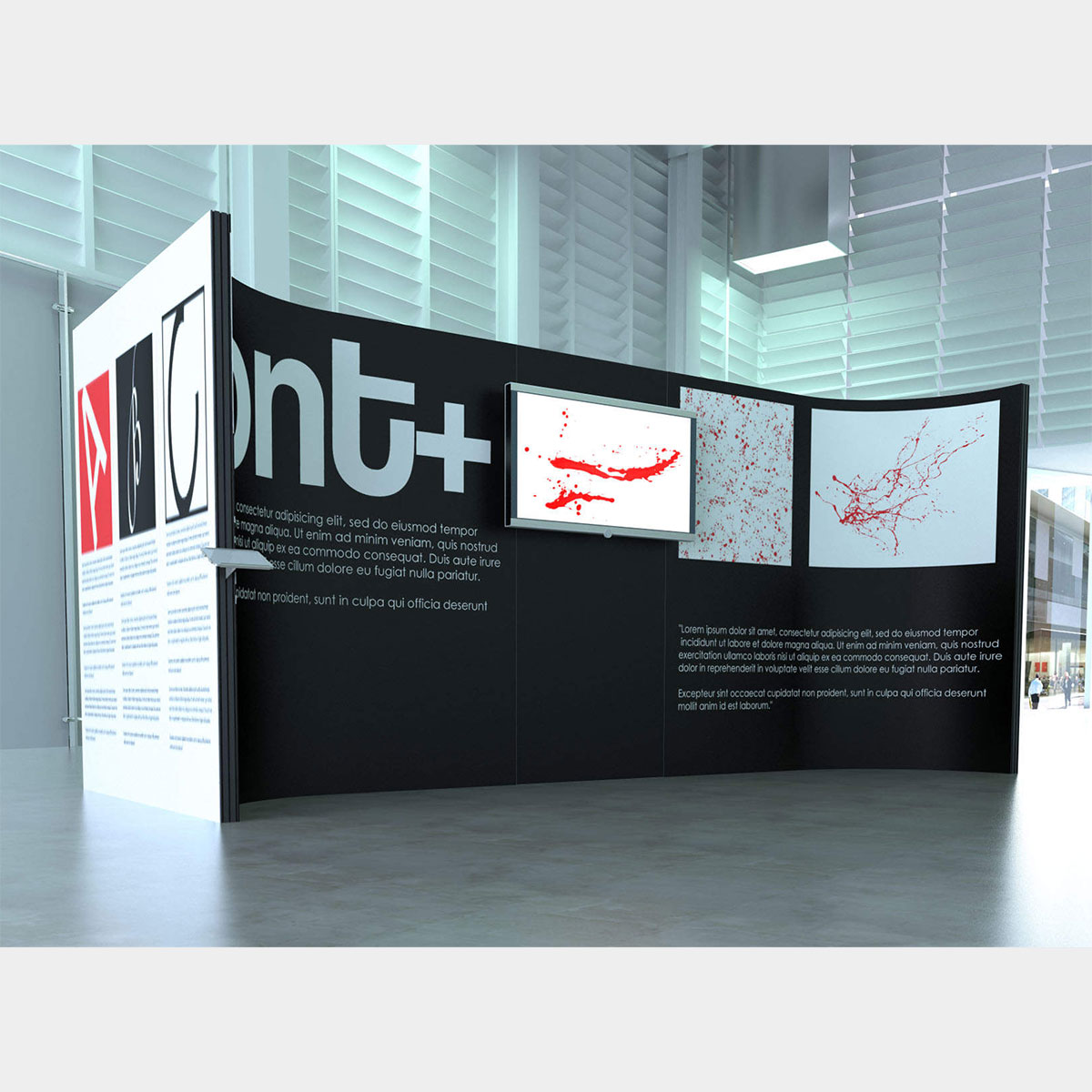 Corner Exhibition Stands Alone : Coker expo aluminium framed exhibition display stands