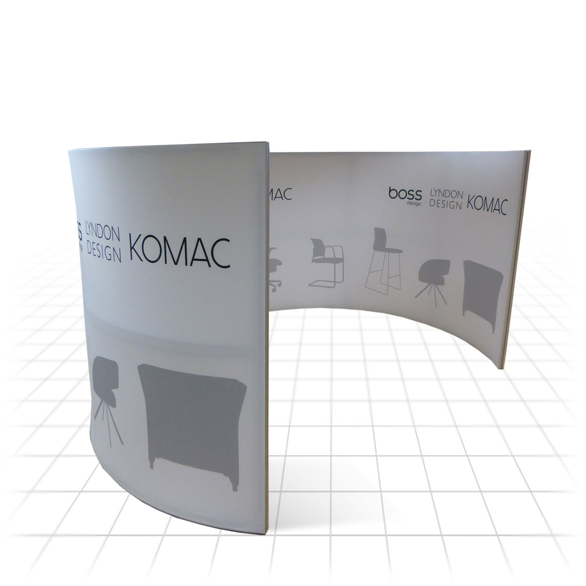 Pods Quote Stretch Pod  Fabric Display Stands