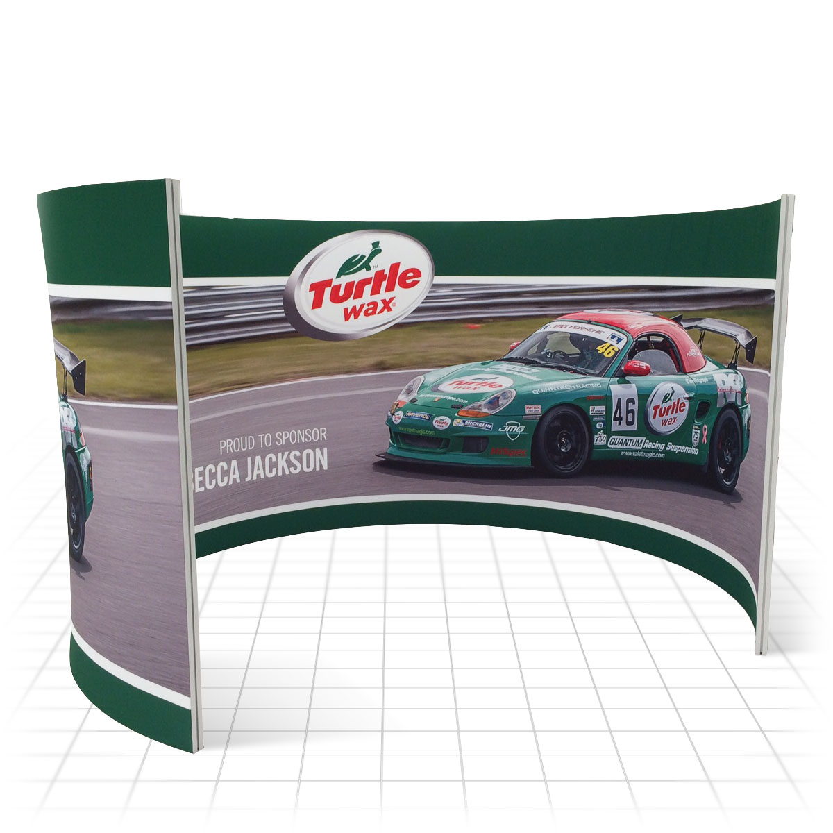 Stretch Fabric Exhibition Stands : Stretch pod fabric display stands