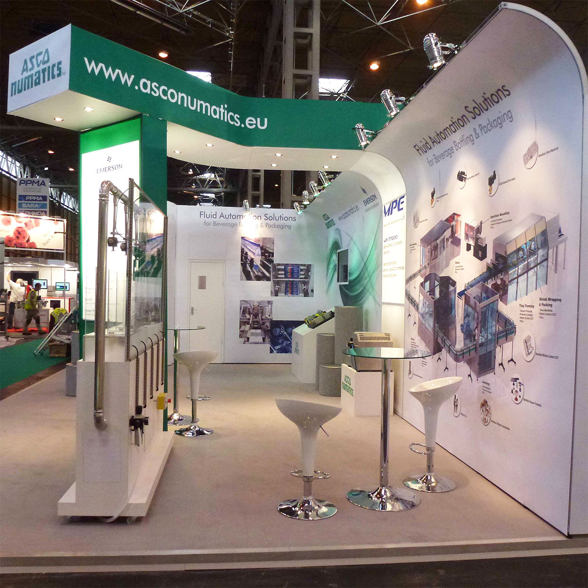 Exhibition Stand Fabric : T modular exhibition stands