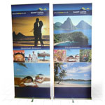 Zap D2 intensive use single sided roll up banner stand