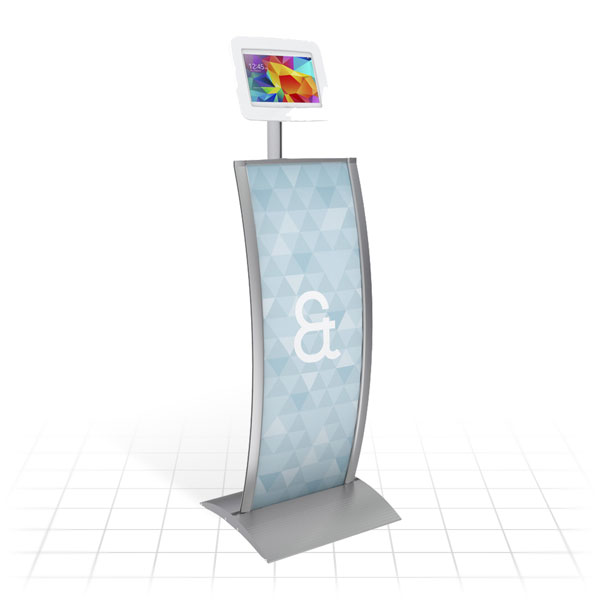 Kiosk Plus Tablet Display Stand (Curved)