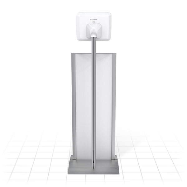 Kiosk Plus Tablet Display Stand (Straight - Rear)
