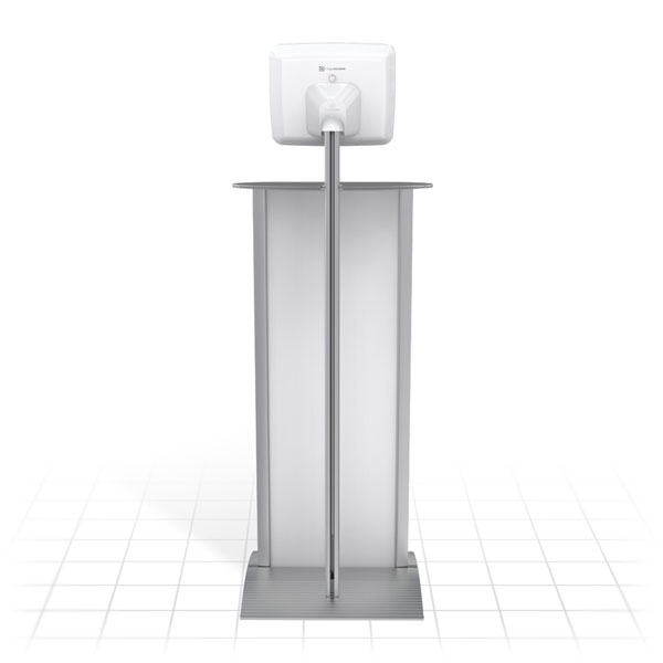 Kiosk Plus Tablet Display Stand (Straight - Shelf - Rear)