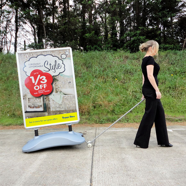 Recoil Pavement Sign [with Trolley]