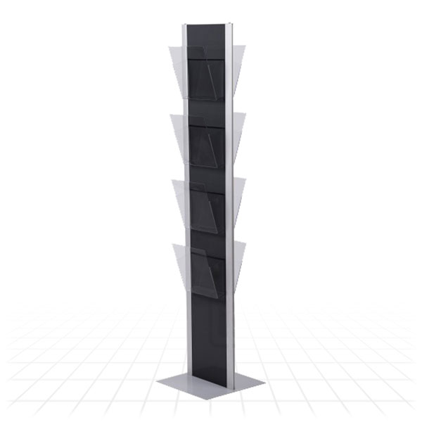 Totem Literature Stand [Clear Shelves]